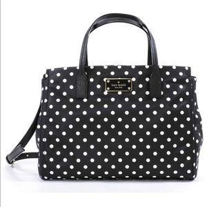 🌟New Authentic Kate spade nylon black and white
